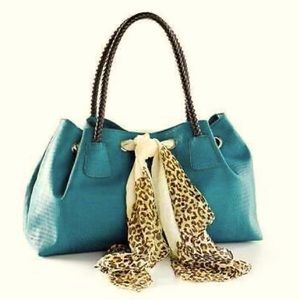 ✨Boutique Penelope Ann teal tote
